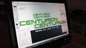 centurion ロゴ作成 illustrator